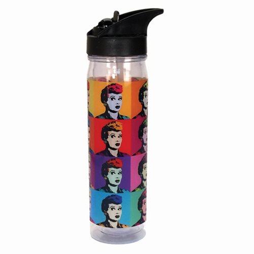 I Love Lucy Warhol Art 18 oz. Flip Top Acrylic Water Bottle