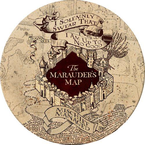 Harry Potter Marauder's Map Melamine Plate Set of 4