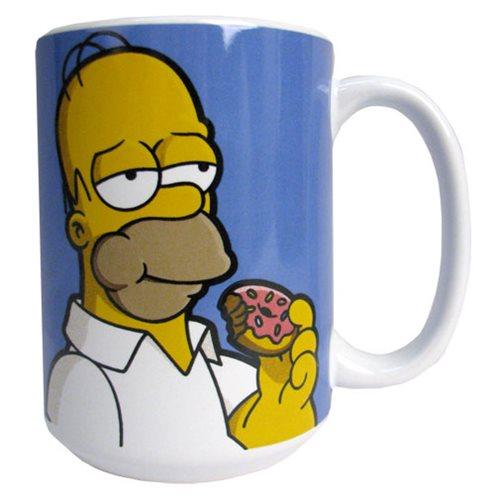 The Simpsons Homer with Donut 14 oz. Ceramic Mug