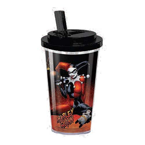 Batman Harley Quinn 16 Oz Flip Straw Travel Cup