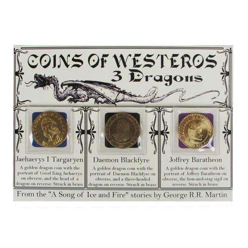 Game of Thrones 3 Golden Dragons Set in Sleeve