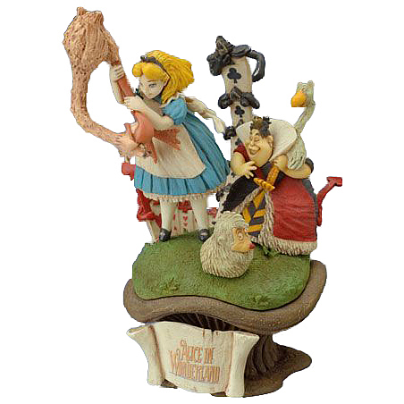 Alice in Wonderland Croquet with Queen of Hearts Figure