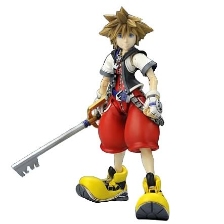 Kingdom Hearts Sora Play Arts Action Figure, Not Mint