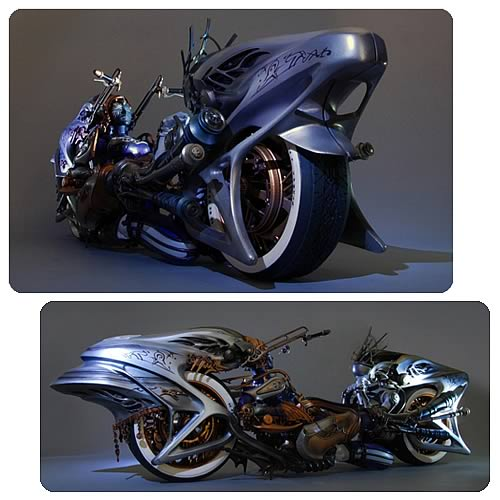 Final Fantasy XIII Shiva Bike Play Arts Kai Action Figure