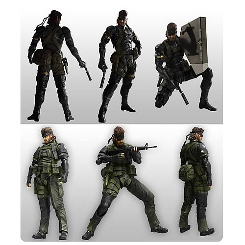 Metal Gear Solid Peace Walker Play Arts Kai Figure Set