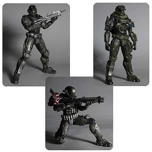 Halo Reach Play Arts Kai Action Figure Set