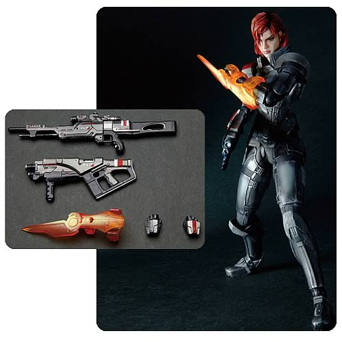 Mass Effect 3 Female Commander Shepard Play Arts Kai Figure