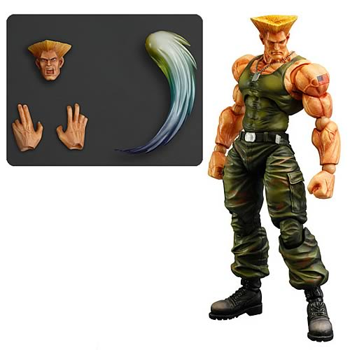 Super Street Fighter IV Guile Play Arts Kai Action Figure