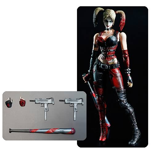 Batman Arkham City Harley Quinn Play Arts Kai Action Figure