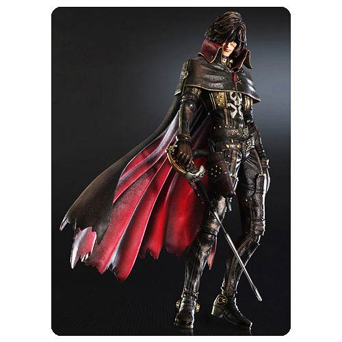 Space Pirate Captain Harlock Play Arts Kai Action Figure