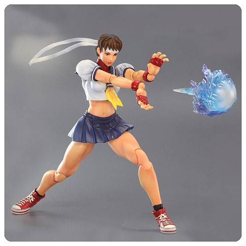 Super Street Fighter IV Sakura Play Arts Kai Action Figure
