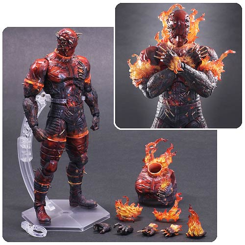 Metal Gear Solid V Man on Fire Play Arts Kai Action Figure