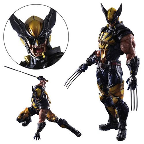Marvel Universe Wolverine Variant Play Arts Kai Figure SquareEnix - Free contractor invoice square enix online store