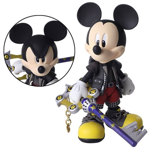 Kingdom Hearts III King Mickey Bring Arts Action Figure