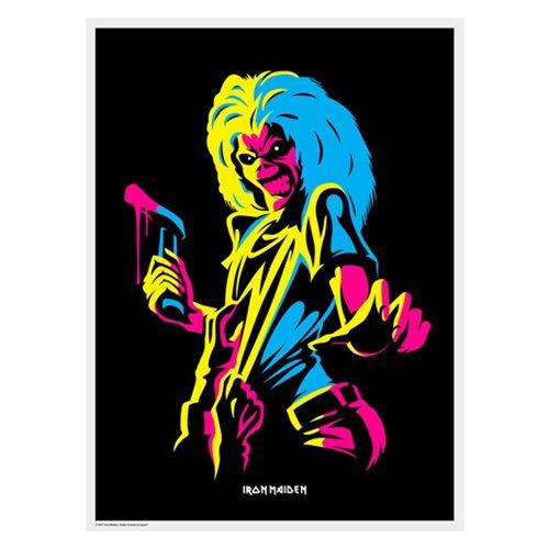 Iron Maiden Killers Flocked Black Light Poster