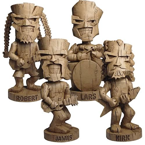 Metallica Resin Tiki Bobble Heads Set