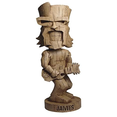 Metallica Resin Tiki James Bobble Head