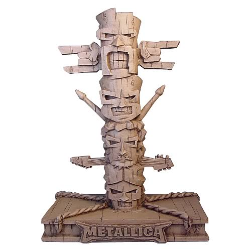Metallica Resin Tiki Totem Pole