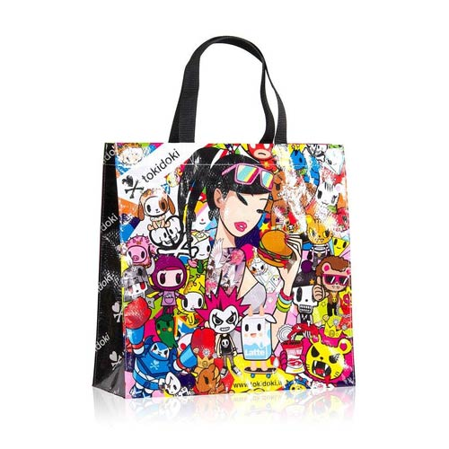 Tokidoki Burger Time Vinyl Tote Bag