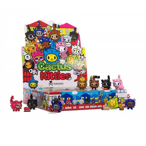 Tokidoki Cactus Kitties Vinyl Figure Display Box
