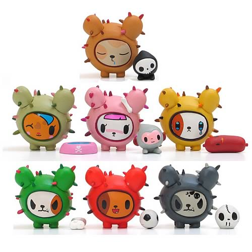 Tokidoki Cactus Pups Vinyl Figure Display Box