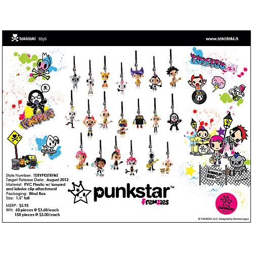 Tokidoki Punkstar Frenzies Phone Charm 4-Pack