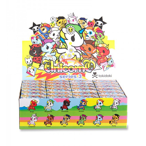 Tokidoki Unicornos Series 3 Vinyl Figure Display Box