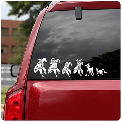 Marvel Comics Superhero Family Car Decal Set