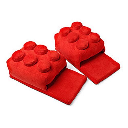 Building Brick Red Slippers