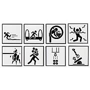 Portal Warning Sign Coasters