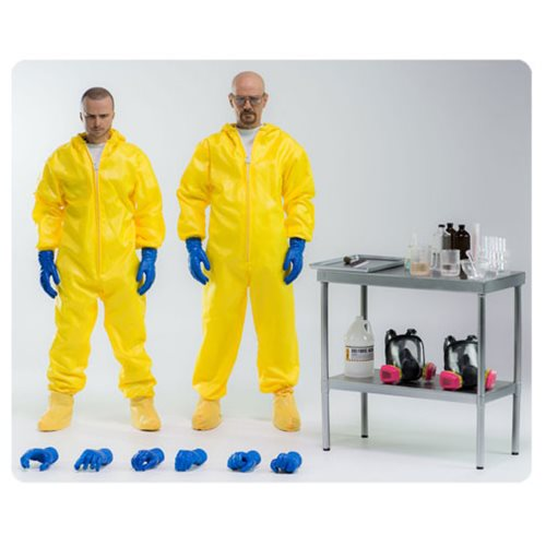 Breaking Bad Heisenberg & Jesse Hazmat Suit 1:6 Figure 2-Pk