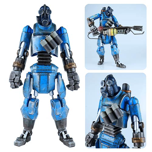 Team Fortress 2 Blue Robot Pyro Action Figure