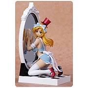Fairy Tale Figure Alice in Mirror World Blue Dress Statue