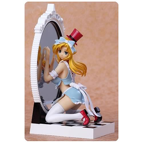 Fairy Tale Figure Alice in Mirror World Blue Dress Statue