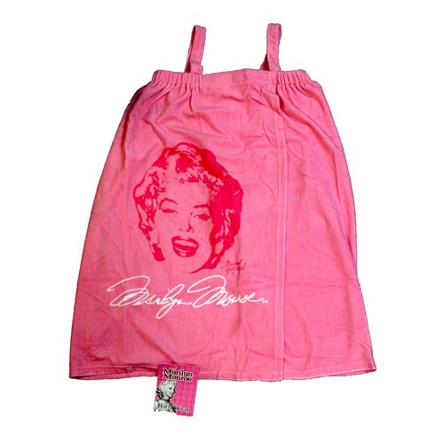 Marilyn Monroe Pink Terry Bath Wrap