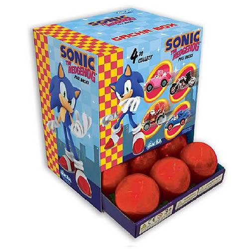 Sonic the Hedgehog Pull Back Vehicles Display Box