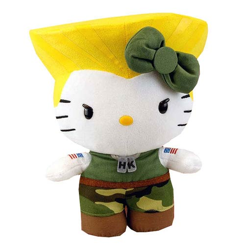 Street Fighter Hello Kitty Guile 11-Inch Plush