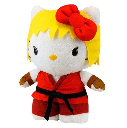 Street Fighter Hello Kitty Ken 11-Inch Plush