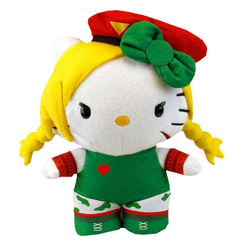 Street Fighter Hello Kitty Cammy 11-Inch Plush