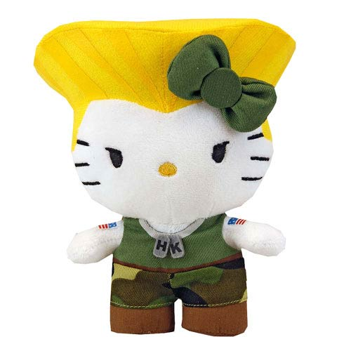 Street Fighter Hello Kitty Guile 6-Inch Plush