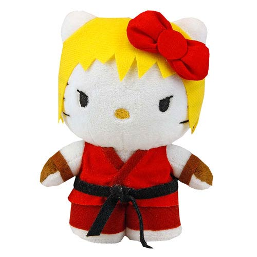 Street Fighter Hello Kitty Ken 6-Inch Plush