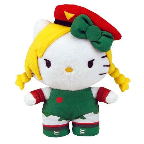 Street Fighter Hello Kitty Cammy 6-Inch Plush