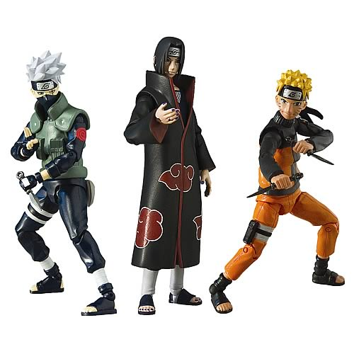 Naruto Shippuden 4-Inch Series 1 Action Figure Set