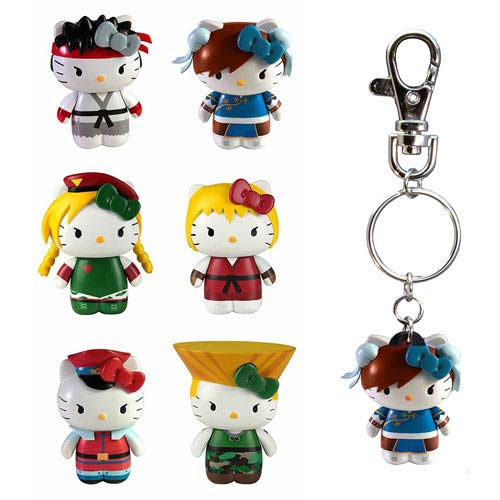 Street Fighter Hello Kitty Figural Key Chain Set