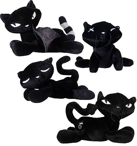 Emily the Strange 8-inch Plush Black Cats Case