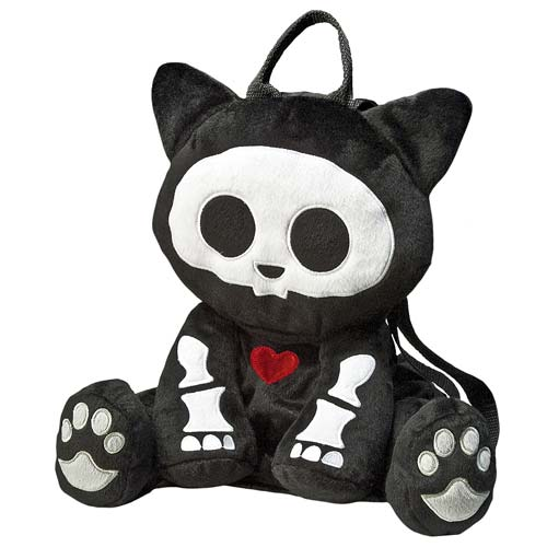 Skelanimals Kit (Cat) 12-Inch Deluxe Backpack Plush