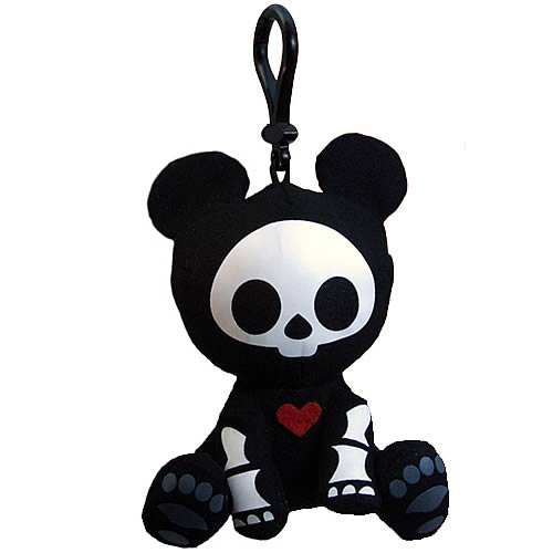 Skelanimals Andy Panda Glow-in-the-Dark Clip-on Plush