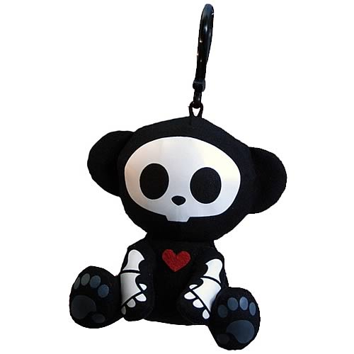 Skelanimals Marcy Monkey Glow-in-the-Dark Clip-on Plush