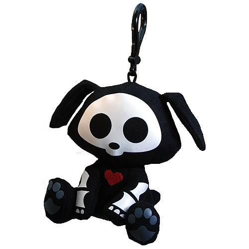 Skelanimals Dax Dog Glow-in-the-Dark Clip-on Plush
