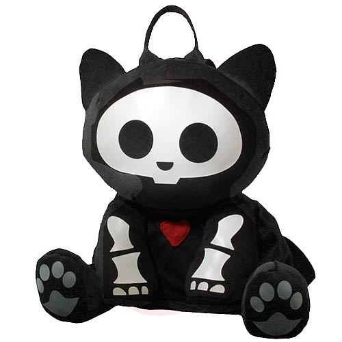 Skelanimals Kit (Cat) 12-Inch Backpack